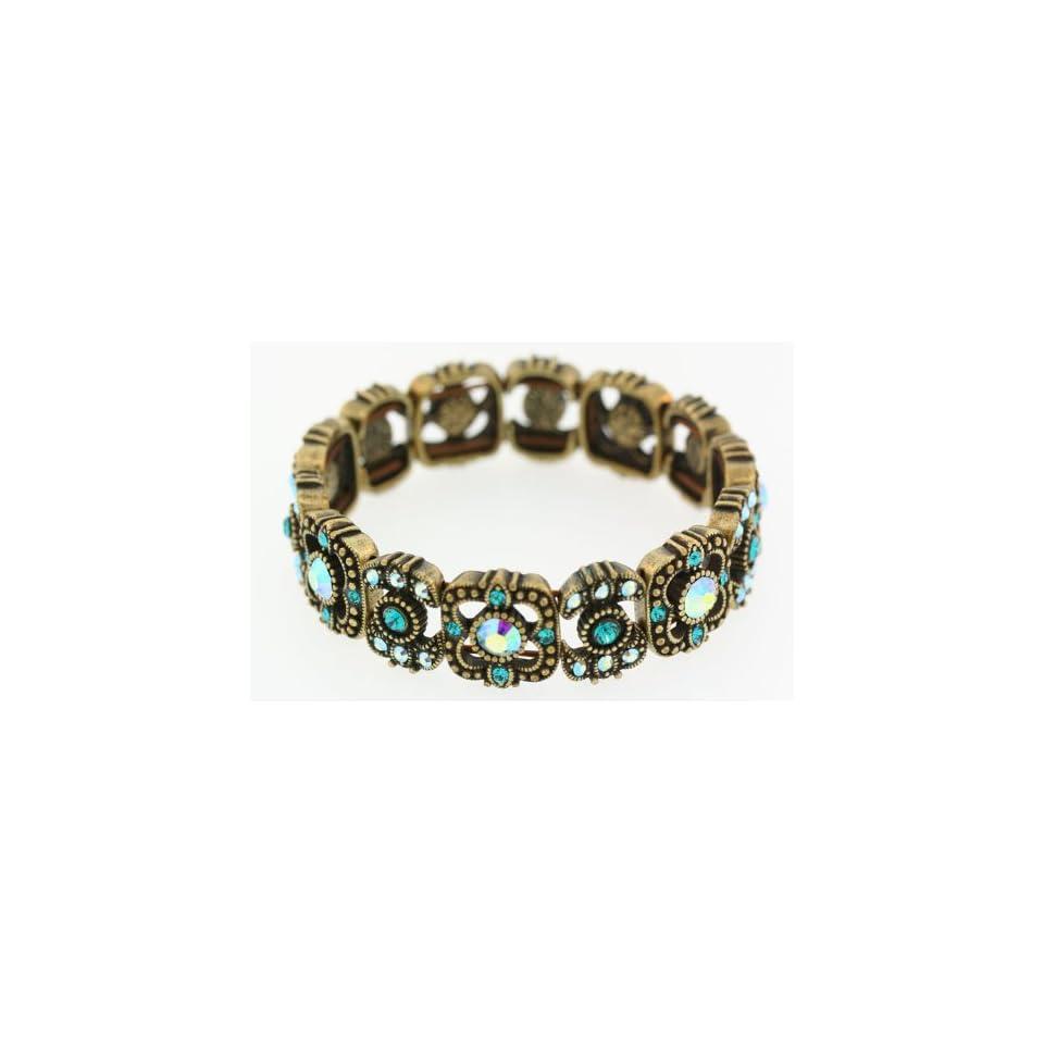Kirks Folly Sparkling Twilight Stretch Bracelet AQUA
