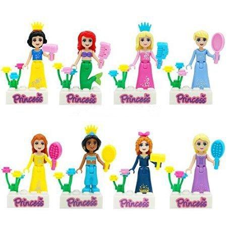 8 Piece/ Set Size :4.5 cm. Princess Girl Minifigure JIEGO Minifigures Building Blocks Figures Package Without Original box