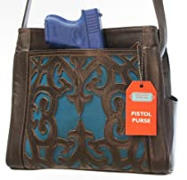 Hot Sale Concealed Carry Crossbody Purse - Gorgeous, Tooled Leather Overlay