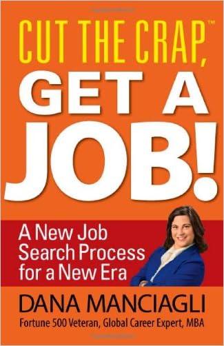 Cut the Crap, Get a Job! a New Job Search Process for a New Era