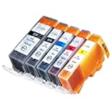 5 Pack Compatible Canon CLI-226 PGI-225 1 Small Black 1 Cyan 1 Magenta 1 Yellow 1 Big Black For Use With Canon...
