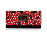 Loungefly Womens Disney Minnie Mouse Bows All Over Print Faux Leather Tri-fold Wallet