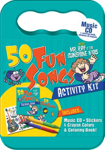 50 Fun Songs with Mr. Ray Activity Kit (Packaged in carrying case with Stickers, Crayons and Coloring Book)