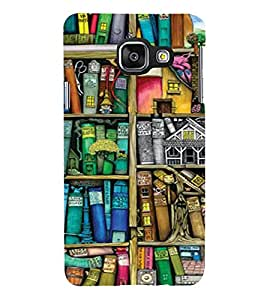 PrintVisa Book Shelf Pattern 3D Hard Polycarbonate Designer Back Case Cover for Samsung Galaxy A5 A510 2016 Edition