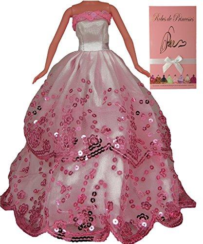 Vestido-de-princesa-ROSA-para-la-mueca-Barbie-Disney-y-otras-muecas