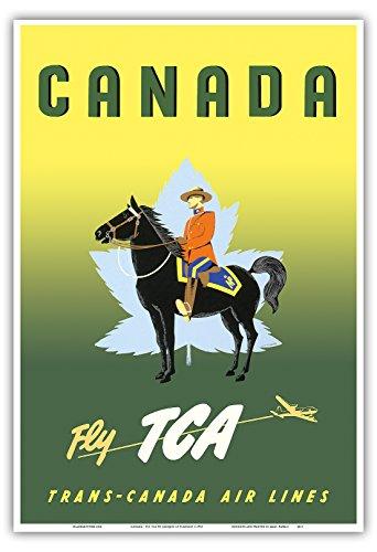 canada-voler-par-tca-trans-canada-air-lines-gendarmerie-royale-du-canada-a-cheval-vintage-airline-tr