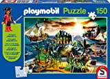 Playmobil Pirate Island Jigsaw Puzzle and Playmobil Figure (Multicoloured, 150 Piece)