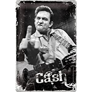 Johnny Cash Up Yours Metal Plaque   recensioni dei clienti