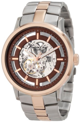 Kenneth Cole New York Men'S Kc9032 Automatic Rose Gold Transparent Clear Automatic Watch