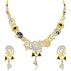 Sukkhi Resplendent Gold Plated Geometrical Shaped Necklace Set for Women