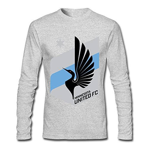 FENGTING Men's Minnesota United FC NASL Logo Long Sleeve T-shirt
