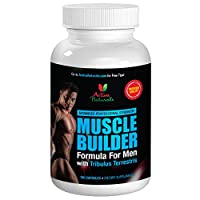 #1 Muscle Builder for Men - Muscle Building Supplement Formula for Professionals - Formulated with Natural Muscle Mass Builder Ingredients like Citrulline Malate, L-Arginine AKG, Horny Goat Weed and Tribulus Terrestris to Support Bodybuilding and Help Increase Energy & Stamina - 90 Days Supply (180 Capsules)