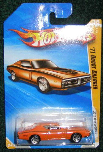 2010 HOT WHEELS NEW MODELS 36 OF 44 ORANGE '71 DODGE CHARGER - 1