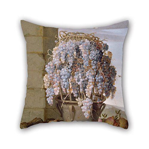 Uloveme 18 X 18 Inches / 45 By 45 Cm Oil Painting Luca Forte (Italian (Neapolitan) - Still Life With Grapes And Other Fruit Throw Pillow Covers,twin Sides Is Fit For Bedroom,play Room,kids Room,fes (One Direction Big Fleece Blanket compare prices)