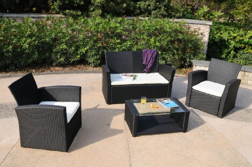 Del Mar Collection - 4pc Outdoor Wicker Patio Furniture