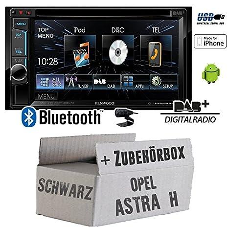 Opel astra h, noir-kenwood dDX4015DAB 2DIN multimédia cD/uSB avec kit de montage