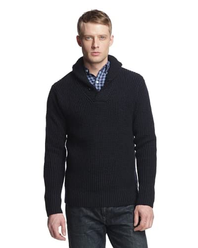 Relwen Men's Mercerized Shawl Sweater