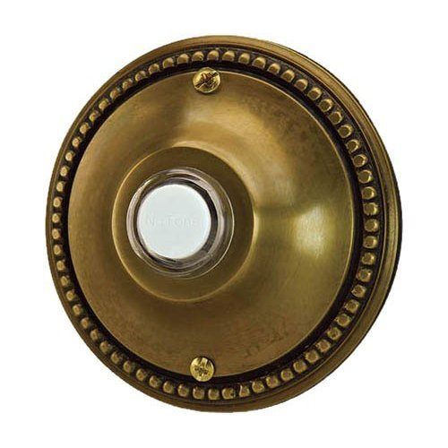 Nutone Nb4002Ab Decorative Door Chime Push Button, Flush Mount, Antique Brass Finish front-550309