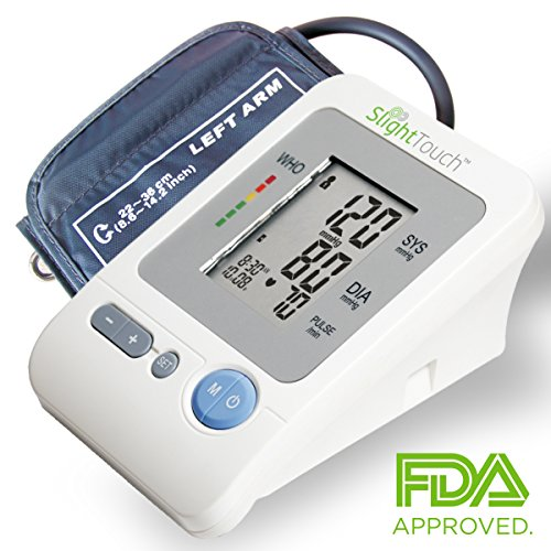 Slight Touch FDA Approved Fully Automatic Upper Arm Blood Pressure Monitor Large Cuff (11.8