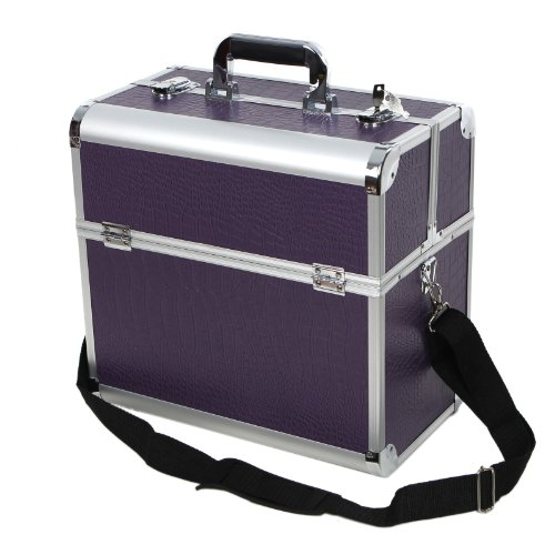 Songmics Aluminium Lockable Cosmetics and Make-up Beauty Carry Case Nail Tech Hair Salon Jewelry