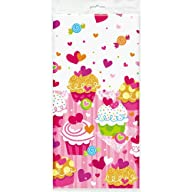 Cupcake Hearts Plastic Tablecloth, 84…
