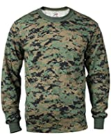 Woodland Digital Camouflage Long Sleeve T-shirt