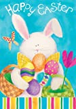 Happy Easter Bunny Egg Double Sided House Flag 28 x 40