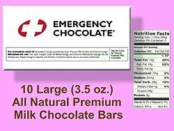 Bloomsberry Emergency Milk Chocolate - Ten 3.5 oz. Bars