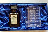 Personalised/Engraved Alaska Crystal Glass & Disaronno Amaretto Gift Set in Silk Gift Box - 18th/21st/30th/40th/50th/60th Birthday/Dad/Daddy/Mum/Mummy/Nan/Grandad/Nanny Gift
