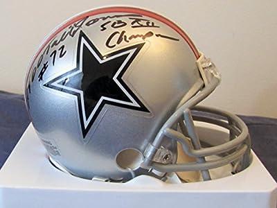 "Ed ""Too Tall"" Jones Autographed Bicentennial Mini Dallas Cowboys Helmet with Super Bowl Inscription"