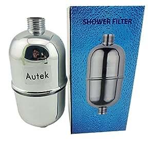 autek in line shower head filter faucet softener remove chlorine. Black Bedroom Furniture Sets. Home Design Ideas