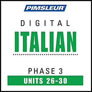 Italian Phase 3, Unit 26-30 Audiobook