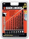 Black   Decker 15557 10-Piece Drill Bit Set