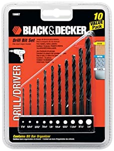 Black & Decker 15557 Drill Bit Set, 10-Piece