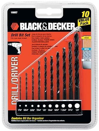 Black & Decker 15557 Drill Bit Set, 10-Piece
