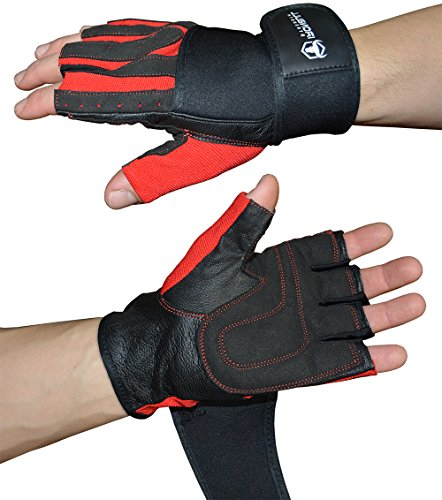 Iron-Bull-Weight-Lifting-Gloves-With-Integrated-Wrist-Support-Premium-Quality-Leather-Superior-Comfort-Support-and-Stability-Best-Grip-for-Men-and-Women-Small