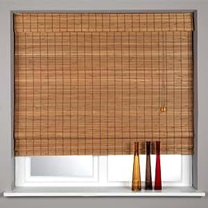 Sunlover Bamboo Wooden Roman Blinds Teak W180cm Amazon