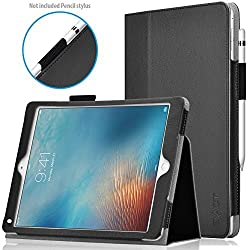 iPad Pro 9.7 Case - Exact [PRO Series] iPad Pro 9.7inch Case - [Professional][Drop Protection]Slim-Fit PU Leather Folio Case for Apple iPad Pro 9.7 (2016)(With Auto Wakes/Sleep Function) Black