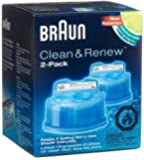 Braun New Value Size Package Syncro Shaver System Clean & Renew 8 Count