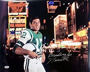 Broadway Joe Namath Signed Autographed New York Jets 16x20 Photo PSA by Insider Sports Deals