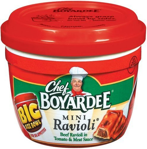 Chef Boyardee Mini Beef Ravioli, 14.25-Ounce Microwavable Bowls (Pack of 12)