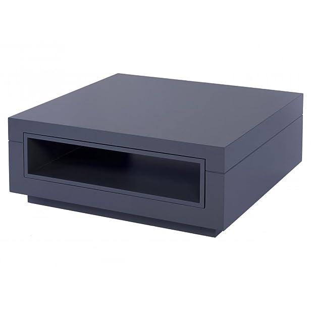 Gillmore Space Tavolino quadrato di contemporanea grigio grafite