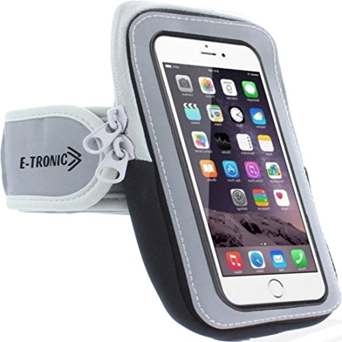 Sports Armband: Cell Phone Holder Case Arm Band Strap With Zipper Pouch/ Mobile Exercise Running Workout For Apple iPhone 6 6S 7 Plus Touch Android Samsung Galaxy S5 S6 S7 Note 4 5 Edge LG HTC Pixel (Galaxy Note Edge Cell Phone Case compare prices)