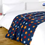 Dreamscene Star Fleece Blanket, Blue,...