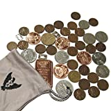 Vx Investments Ultimate Coin Bag. 3x 1 Gram Silver Bars, 10 Coins from Around the World, 25 Wheat Pennies, 1 Ounce 999 Copper Bar,  and 4x 1/4 Ounce Copper Coins
