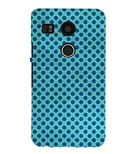 Circle pattern Back Case Cover for LG Google Nexus 5X::LG Google Nexus 5X (2nd Gen)