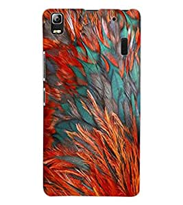 ColourCraft Feathers Design Back Case Cover for LENOVO K3 NOTE