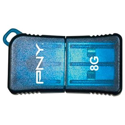 PNY 8 GB Micro Sleek USB Drive, Blue (P-FDU8GBSLK/BLU-EF)
