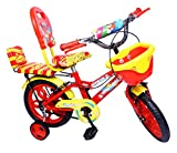 #8: NY Bikes Steel Delux 14T Kids' Bicycle, 14 Inches (Red and Yellow)