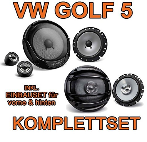 VW-Golf-5-KENWOOD-Lautsprecher-Komplettset-fr-vorne-hinten